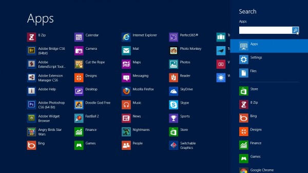 Search windows 8