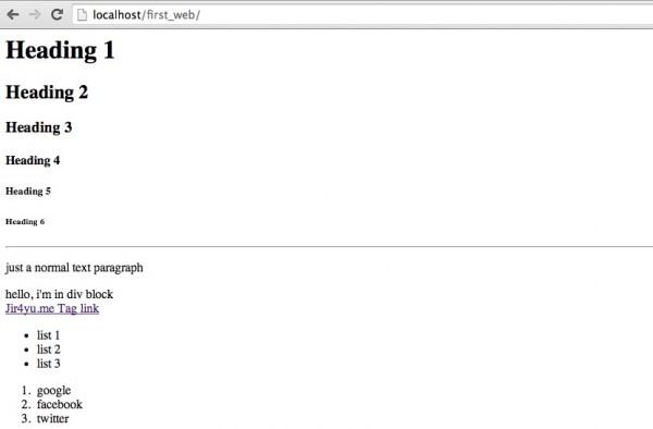 Basic HTML Rendering