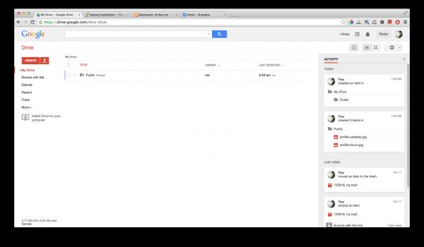 หน้าตาของ Google Drive