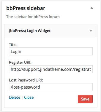 BBPress Login Sidebar