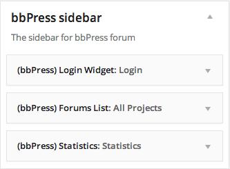 BBPress Sidebar