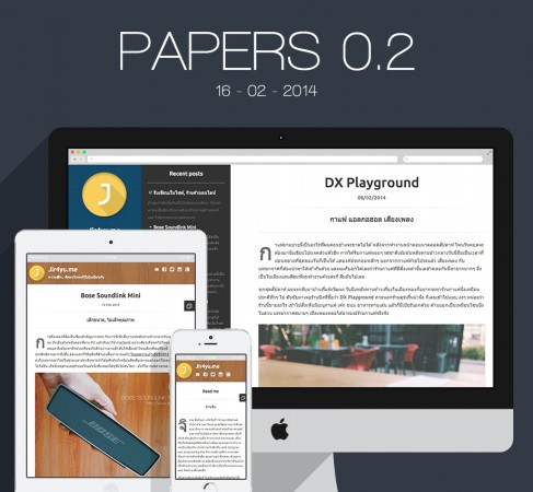 the Papers wordpress Theme