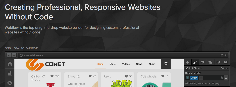 เครื่องมือสร้างเว็บไซต์ WebFlow