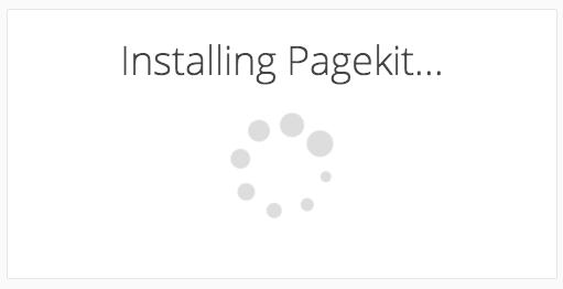 pagekit - installing