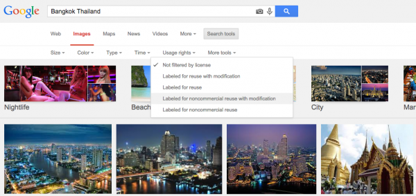 Google image - commercial usage