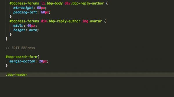 override CSS file - BBPress