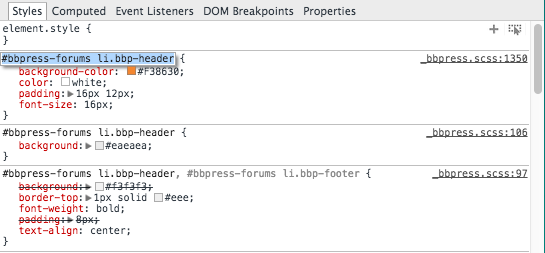 web developer tools, google chrome