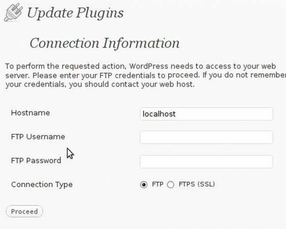 WordPress FTP Update