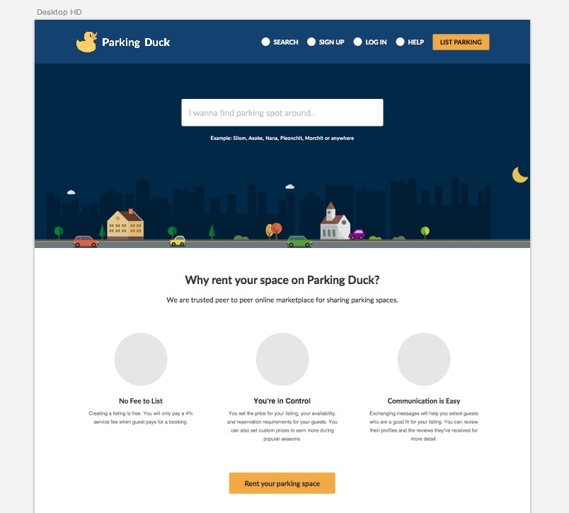 parking duck new website