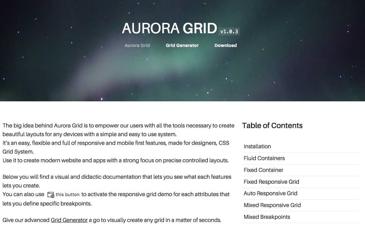 Aurura Grid System
