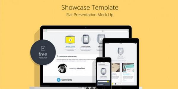 Flat Responsive Showcase