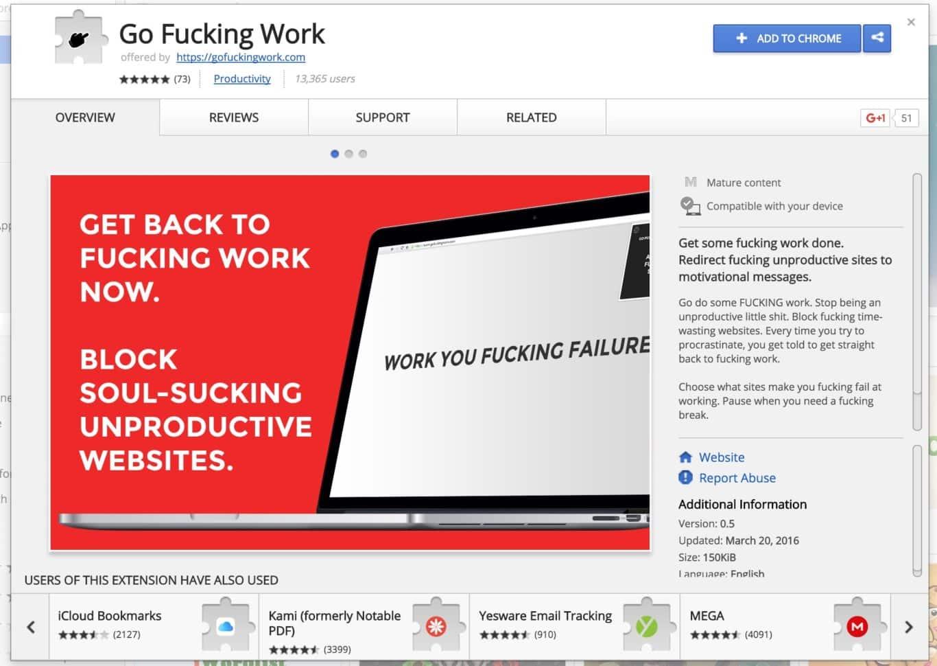 go fucking work!