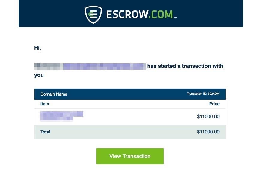 ขายโดเมน escrow.com