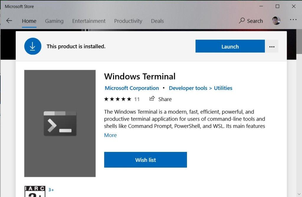 ติดตั้ง windows terminal